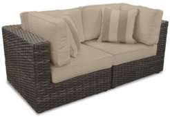 Viewport Outdoor 2-Pc. Modular Seating Set (2 Corner Units) with Custom Sunbrella Cushions, Created for Macy's
