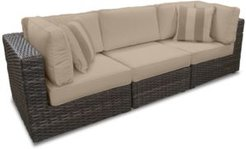 Viewport Outdoor 3-Pc. Modular Seating Set (2 Corner Units and 1 Armless Unit) with Custom Sunbrella Cushions, Created for Macy's