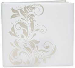 Godinger Philip Whitney Large White Self-Stick Photo Album with Silver-Tone Ivy Design
