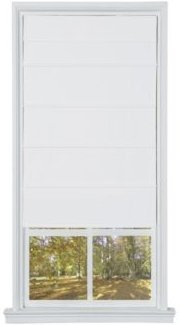 Cordless Cotton Fabric Roller Shade, 23x64