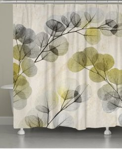 Smoky X-Ray of Eucalyptus Leaves Shower Curtain Bedding