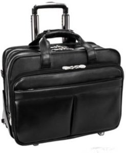"""Roosevelt 17"""" Patented Detachable -Wheeled Laptop Briefcase"""