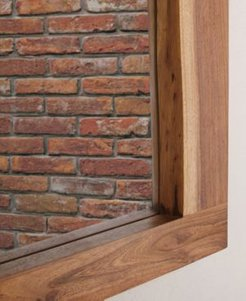 "Alpine Natural Live Edge Wood 36"" Mirror"