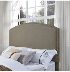 Closeout! Cassie Curved Upholstered Full/Queen Headboard