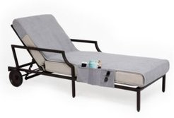Standard Size Chaise Lounge Cover with Side Pockets Bedding
