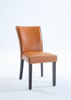 Bella Lunabonded Leather Parsons Chair (Set of 2)