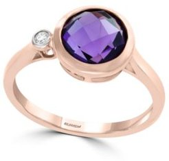 Effy Amethyst (1 1/2 ct. t.w.) and Diamond Accent Ring in 14k Rose Gold