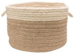 Chunky Natural Wool Dipped Braided Basket