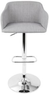 Daniella Adjustable Barstool with Swivel in Light