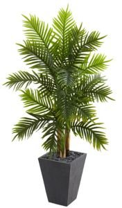 5.5' Areca Palm Artificial Tree in Slate Finished Planter
