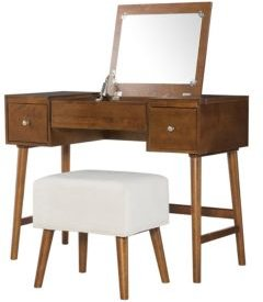 Viola Vanity Set with Bench and Mirror
