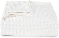 Waffleweave White Blanket, Full/Queen Bedding
