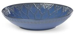 Global Tapestry Low Bowl Blue