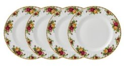 Old Country Roses Dinner Plate Set/4