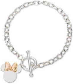Minnie Mouse Charm Toggle Bracelet in Sterling Silver & 18k Gold-Plate