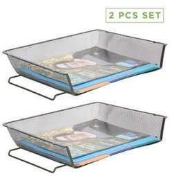 2 Piece Stackable Letter Tray, File Organizer