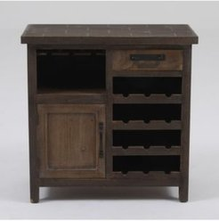 Wine Station Wood Console Cabinet