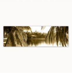 Colossal Images Sepia Palms Canvas Art, 12 x 36