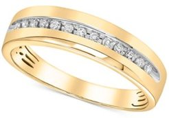 Diamond Channel-Set Band (1/6 ct. t.w.) in 14k White Gold or Yellow Gold