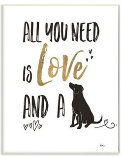 """Dog Lover Typography Wall Plaque Art, 10"""" x 15"""""""