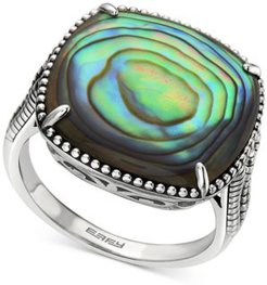 Effy Abalone Cushion Statement Ring in Sterling Silver