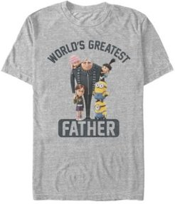 Illumination Men's Despicable Me Gru World's Greatest Father Short Sleeve T-Shirt