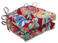 """Printed 15"""" x 16.5"""" Outdoor Chair Pad Seat Cushions 2-Pack"""