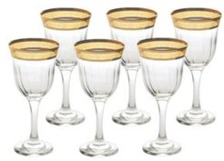 Red Wine Melania Collection Amber - Set of 6
