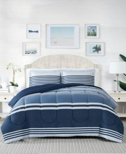 Cole Stripe 3-Pc. Full/Queen Comforter Mini Set, Created for Macy's Bedding