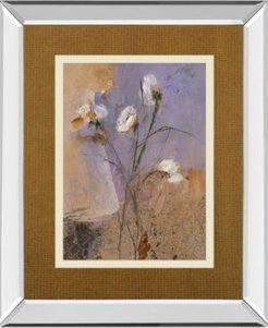 """Flowers of June Series I by Miquela Nicolau Mirror Framed Print Wall Art, 34"""" x 40"""""""