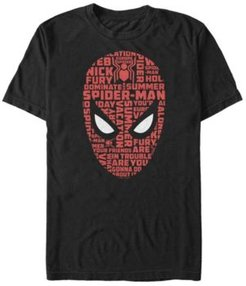 Spider-Man Far From Home Word Mask, Short Sleeve T-shirt