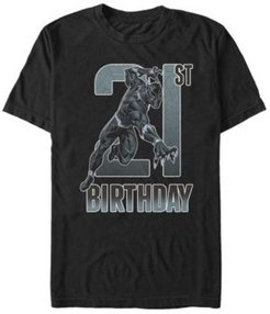 Fifth Sun Men's Marvel Black Panther 21st Birthday Short Sleeve T-Shirt