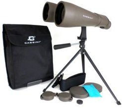 70mm 15 Power Day and Night Binocular with Massive Objective Lenses and Table Top Tripod and Case