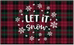 """Let It Snow Accent Rug, 18"""" x 30"""" Bedding"""