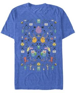 Adventure Time Mirrored Icons Short Sleeve T- shirt