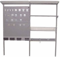 Storability Locboard Wall Mount Storage System with 2 Locboards, Lochook Asst, 2 Wire Shelves, Steel Shelf with Mounting Hardware