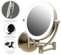 """7.5"""" Led Lighted Wall Mount Makeup Mirror"""