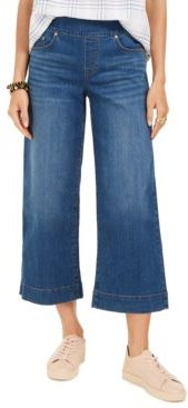 Wide-Leg Pull-On Cropped Jeans, Created for Macy's