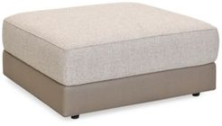 "Closeout! Mattley 38"" Fabric Bumper Ottoman, Created for Macy's"