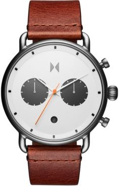 Chronograph Rugged Pack Sienna Tan Leather Strap Watch 47mm