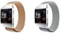 Unisex Fitbit Iconic Assorted Stainless Steel Watch Replacement Bands - Pack of 2