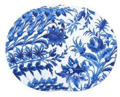 French Style Floral Print Decorative Charger Plate Set of 4