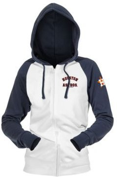Houston Astros Women's Zip-Up Contrast Hoodie