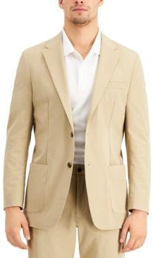Thtech Men's Modern Fit Stretch Khaki Suit Jacket