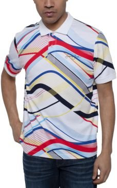 Curved Lines Printed Polo Shirt