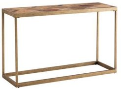 Courtland Reclaimed Wood Patchwork Console Table