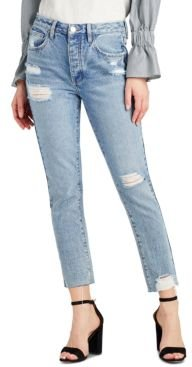 The Stiletto Cotton Ripped Straight-Leg Jeans