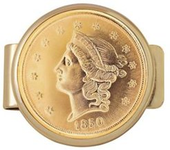Tribute To 20 Dollar Gold Coin Money Clip