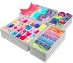 Foldable Drawer Dividers Storage Boxes, Set of 4