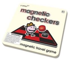 Magnetic Travel Checkers Game